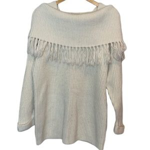 white sweater off-shoulder by NY Style M